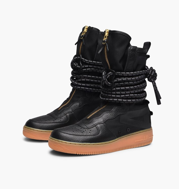 size 40 6e6dd dac5a nike-wmns-sf-air-force-1-hi-boot-aa3965-001-black-black-gum-light ...