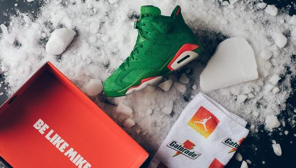 a3be4679cb3451 Gatorade x Air Jordan 6 Retro NRG G8RD Green Release Links