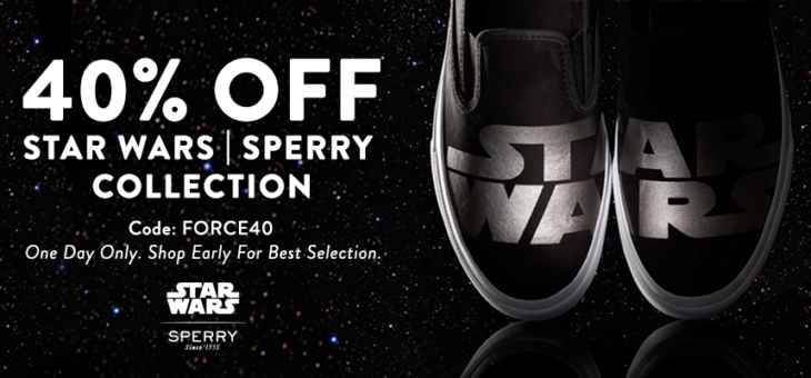 One Day Flash Sale: 40% Off Star Wars x Sperry