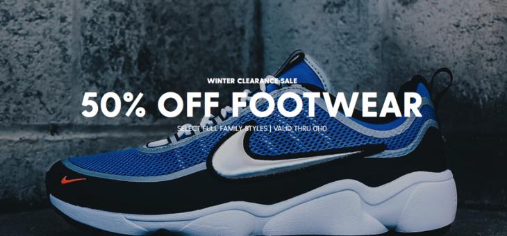 50% off Footwear Winter Sale