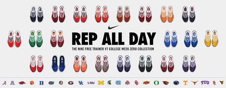 50% off the Nike Free Trainer V7 Week Zero NCAA Collection