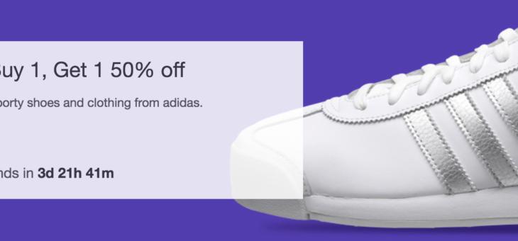 Adidas BOGO 50% off Sale Event