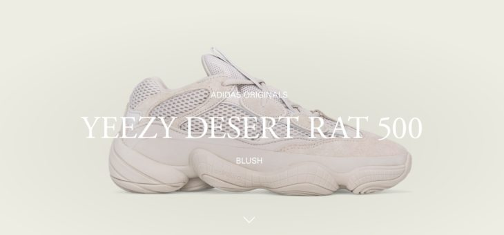 "Yeezy Desert Rat 500 ""Blush"" Raffles"