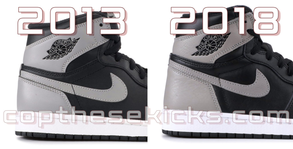 42e63980ff38 Quality Comparison between the 2013 Retro 1 Shadow (555088-014) and the 2018  Version (555088-013)