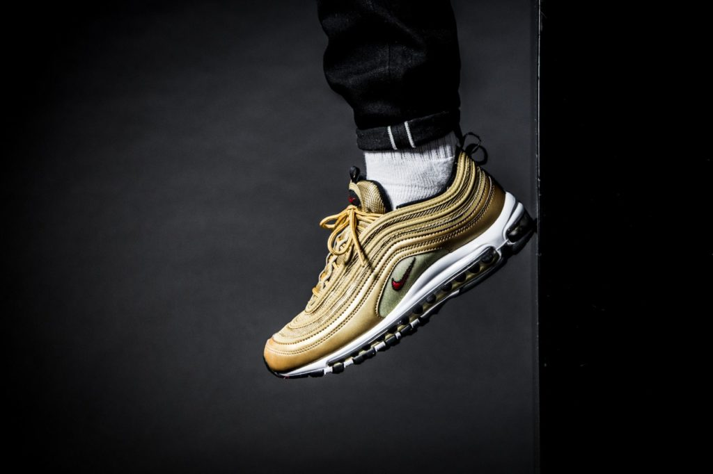 3a78e3fddb Exactly one year after the release of the Nike Air Max 97 Metallic Gold, A  restock is planned. This anniversary colorway will be back at a very few ...