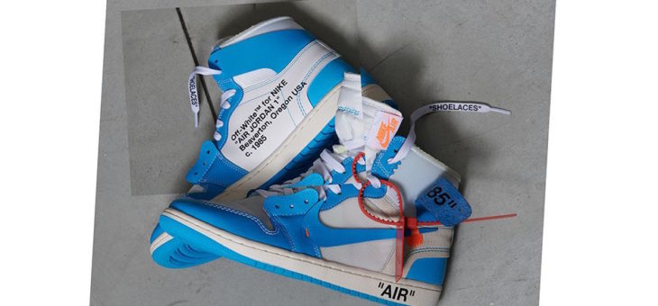 Raffles for the Off White x Jordan Retro 1 UNC (AQ0818-148)