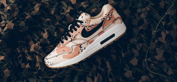 Air Max 1 Desert Camo UNDER RETAIL – $102 after coupon