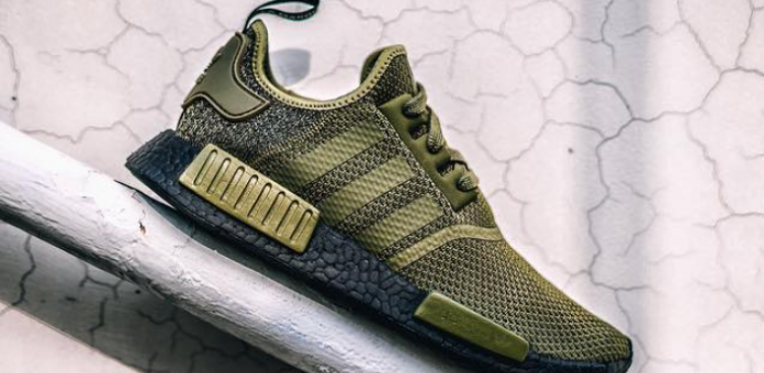 Adidas NMD R1 Olive with Black Boost on sale for just $93