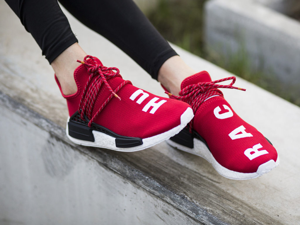 983b76a06eb5 Pharrell Williams x Adidas NMD Human Race (2016) Scarlet Raffle - Cop These  Kicks