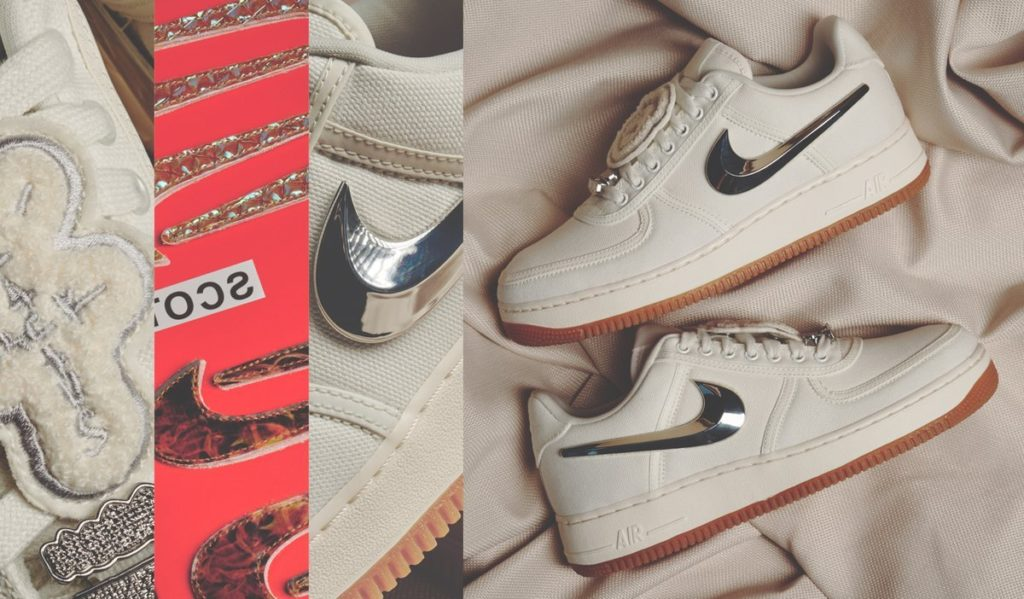 "huge selection of 83f51 36297 Travis Scott x Nike Air Force 1 Low ""Sail"" - Cop These Kicks"