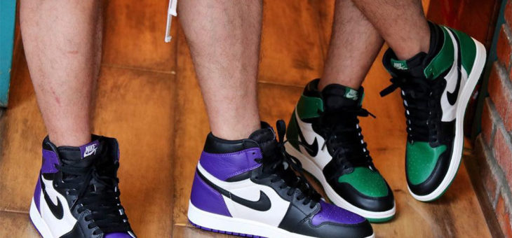 Jordan Retro 1 OG Green & Purple Release