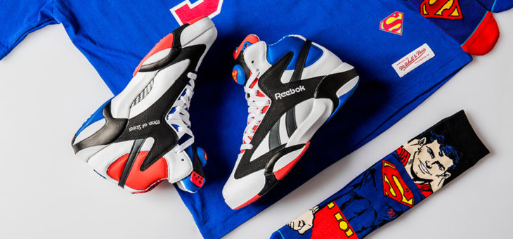 "Save $35 on the Shoe Palace x Superman x Reebok Shaq Attaq ""Man Of Steel"""