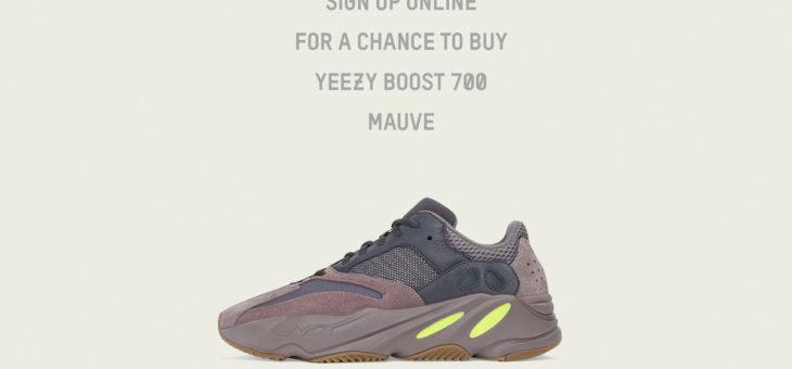 Yeezy Boost 700 Mauve Raffles