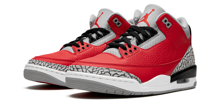 "Jordan Retro 3 ""Untie"" Fire Red on sale for $160"
